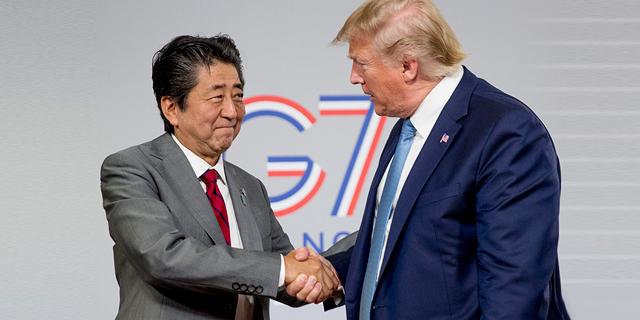 """טראמפ: """"הגענו למסגרת עקרונות על הסכם סחר עם יפן"""""""