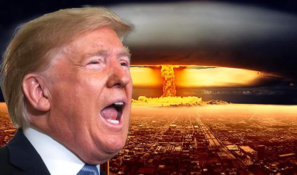 דונלד טראמפ פצצת אטום פיצוץ גרעיני, צילום: wallpapercave, רויטרס