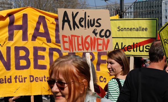 הפגנה בברלין נגד גובה שכר הדירה