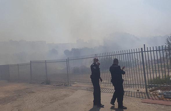 שריפה בבית שמש, צילום: יוסי פרידמן