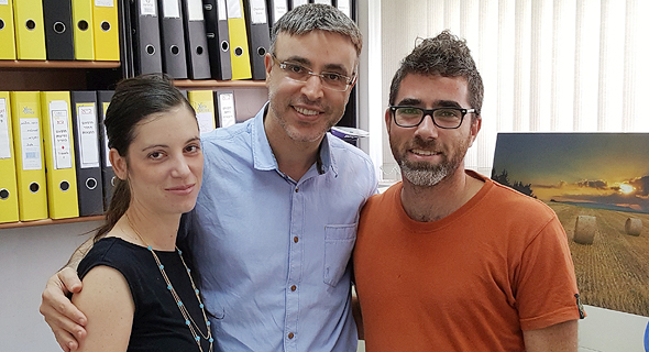 Meital Segev-Bar (left), Hossam Haick, and Gady Konvalina. Photo: PR