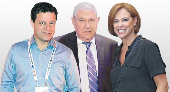"""מימין: המנכ""""לית היוצאת רקפת רוסק עמינח, היו""""ר היוצא דוד ברודט היו""""ר הנכנס , צילום: אוראל כהן"""