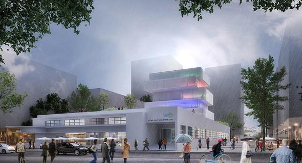 הדמיית פרויקט שוק העליה בגשם, הדמיה: קאנטרי קהילתי - ציונוב ויתקון אדריכלים
