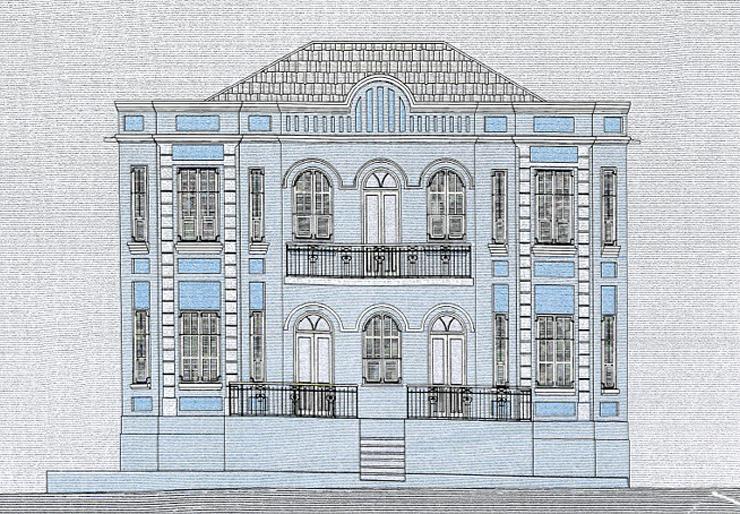 השרטוט המקורי של הבניין , צילום: באדיבות עיריית תל אביב ארכיון תיק בניין