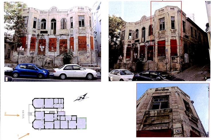 המבנה כיום אטום לחלוטין ואסור לכניסה, צילום: באדיבות עיריית תל אביב ארכיון תיק בניין