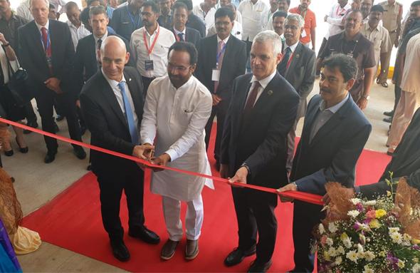 רפאל חנכה מפעל חדש בהודו, צילום: רפאל