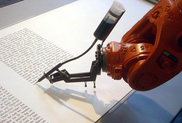 A handwriting robot. Photo: Wikimedia