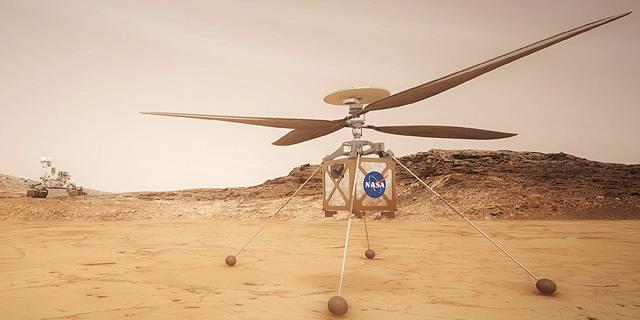 מארס-קופטר: הכירו את הרחפן הראשון שייצא למאדים