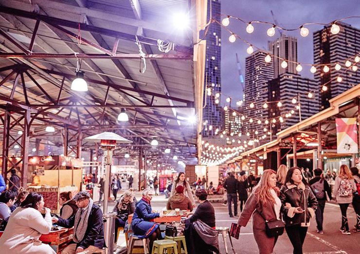 שוק הלילה במלבורן, צילום: visitvictoria