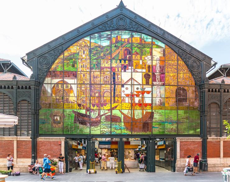 שוק El Mercado Central de Atarazanas במלגה, ספרד, צילום: גטי אימג