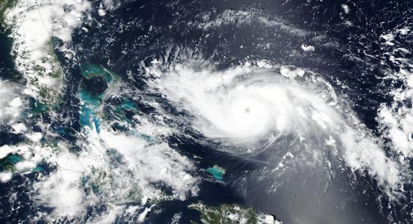 תמונת לוויין של הוריקן דוריאן, צילום: רויטרס
