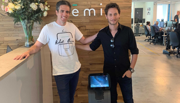 Temi CEO Yossi Wolf (left) and Lior Suchard. Photo: PR