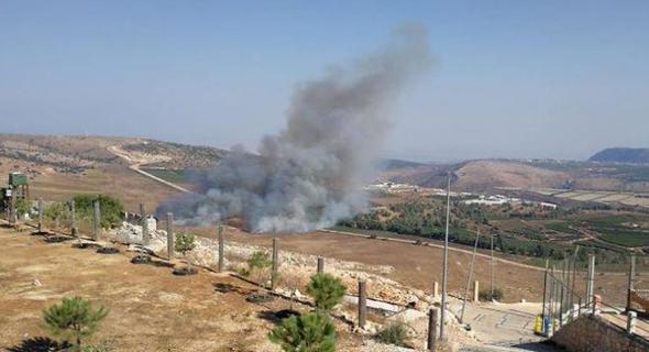 אש בדרום לבנון, צילום: ynet