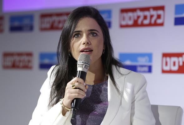 """שרת המשפטים לשעבר איילת שקד. """"המטרה היתה לאכוף במגזר הלא יהודי"""""""