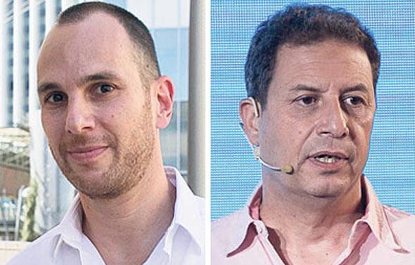 """מימין: המנכ""""ל בתקופה המדוברת רון איילון ו אור אלוביץ' לשעבר דירקטור ב־ yes ו ב בזק, צילומים: אוראל כהן, רמי זרנגר"""