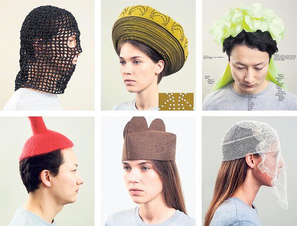 תערוכת כובעים Hybrid Heads של המעצבת דניאלה דוסי