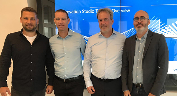 From left: Zooz VP product Nadav Naaman, Mesh CEO Oded Zehavi, ChargeAfter CEO Meidad Sharon, and Visa Innovation Tel Aviv manager Shahar Friedman. Photo: Visa
