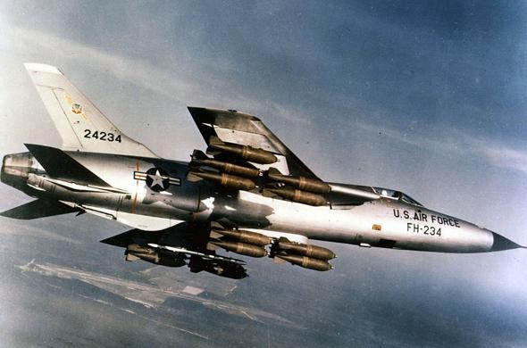 F105 של חיל האוויר האמריקאי, בגיחה בדרום מזרח אסיה, צילום: USAF