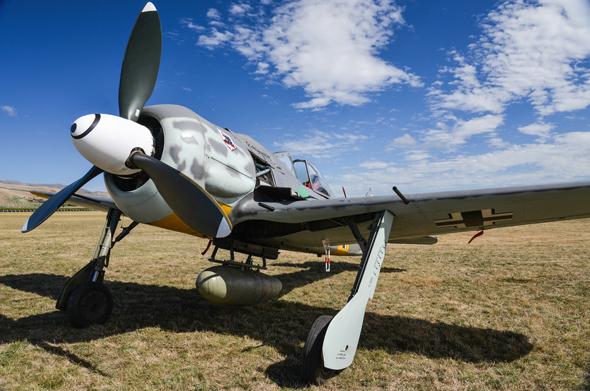 מטוס פוקה וולף 190, בצביעה מסוף המלחמה; הצהוב ממש מתחבא, צילום: שאטרסטוק