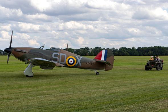 מטוס הוקר הארקיין בריטי, בסכמת צביעה של תחילת המלחמה, צילום: שאטרסטוק