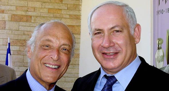 מימין ראש הממשלה בנימין נתניהו ו ספנסר פרטריץ מיליונר יהודי תורם, צילום: דוד רובינגר