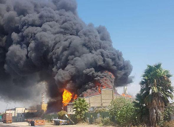 השריפה במפעל שמן תעשיות