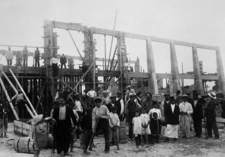 מבנה הבטון הראשון בתל אביב