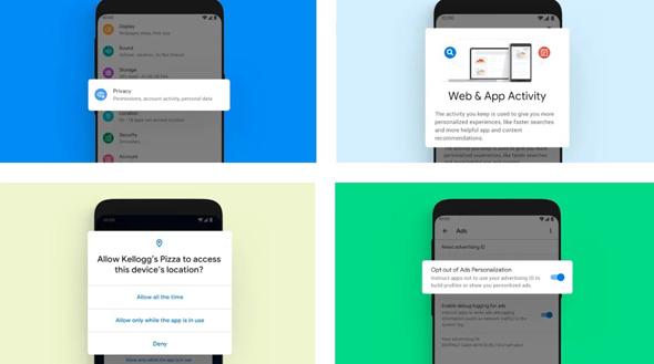 תפריטי פרטיות ואבטחה משופרים, צילום: אתר אנדרואיד של גוגל