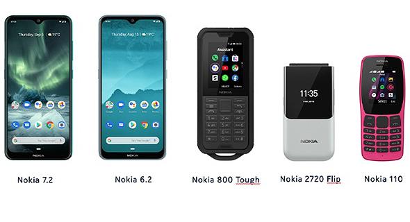 ליין מכשירי נוקיה שנחשף בתערוכה, צילום: Nokia