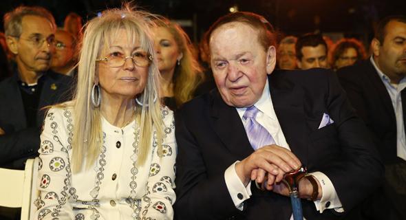 בני הזוג אדלסון, צילום: אוהד צויגנברג