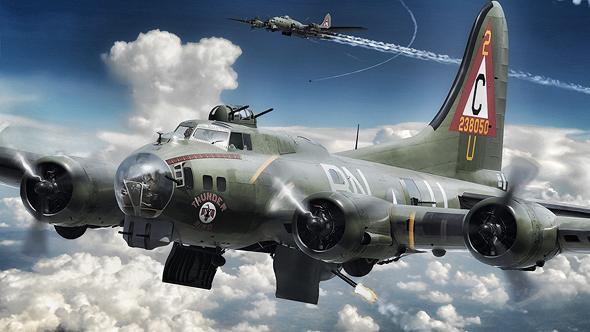 מפציץ B17, כמותו הפעילה היחידה של קאסל במלחמת העולם השנייה