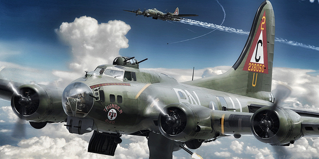 מפציץ B17, כמותו הפעילה היחידה של קאסל במלחמת העולם השנייה, צילום: yousens