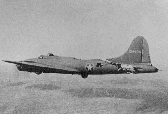 B17 ששרד על אף התנגשות עם מסרשמיט 109