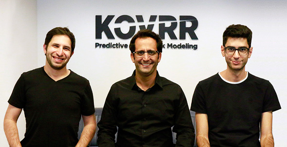 Kovrr founders Avi Bashan (left), Yakir Golan, and Shalom Bubil. Photo: Amir Amitai