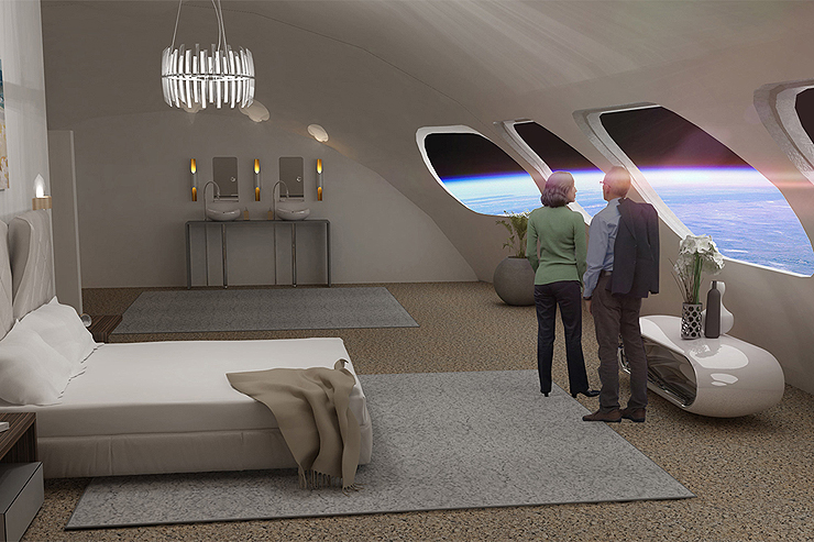 חדר במלון החלל, הדמיה: Gateway Foundation