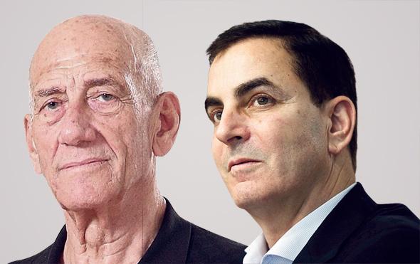 מימין חיים הורביץ ו אהוד אולמרט, צילומים: אוראל כהן, עמית שעל