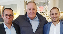מימין איתמר חושן לארי וובר הדן אורנשטיין, צילום: הדן אורנשטיין