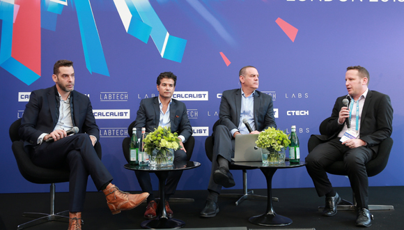 Tomer Weingarten (left), Rephael Sweary, Nimrod Kozlovski, and Aviad Harell. Photo: Orel Cohen