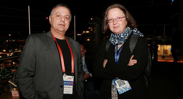 מימין אנג'י מולנגס ושמעון בקר, צילום: אוראל כהן