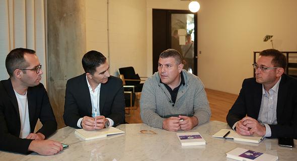 מימין: ערן היימר, טדי שגיא, ירון שחר והדן אורנשטיין