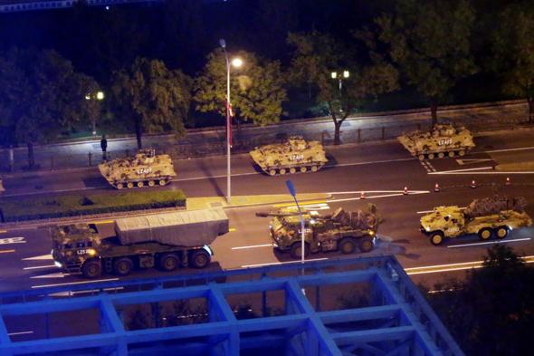 חזרות למצעד הצבאי בבייג