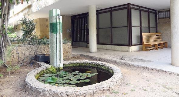 בריכת דגים בבית תל־אביבי. הברקה של אדריכלי הבאוהאוס, צילום: דקל גודוביץ