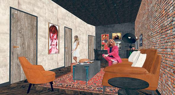 הדמיות של מיזם זאפה ו-Wework להשכרת חדרי סטודיו לאמנים, צילום: מיכה לובטון