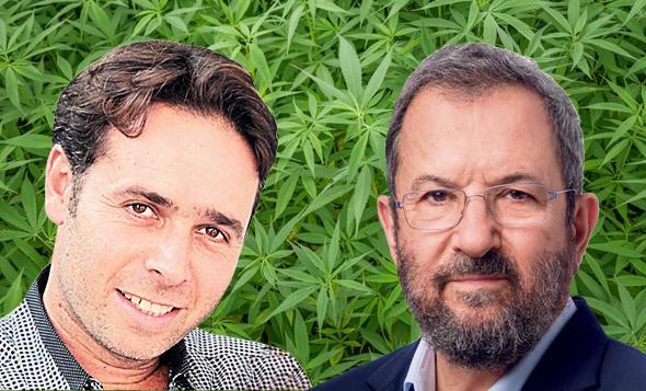מימין אהוד ברק ו ברק רוזן קנאביס, צילומים: אילן בשור , שאטרסטוק