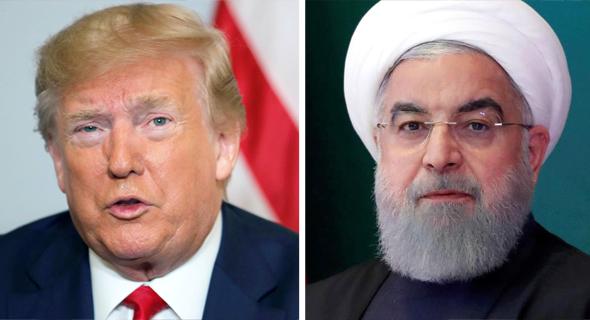 נשיא איראן חסאן רוחאני ו דונלד טראמפ, צילום: רויטרס