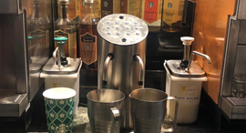 Milkit's dispensing system at Starbucks. Photo: Milkit