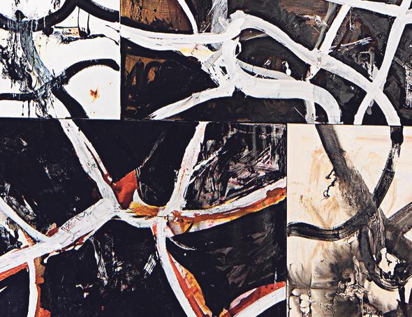 """עבודה של ציבי גבע מתוך התערוכה """"דרך איפה אני מגיע"""", צילום: אלעד שריג"""