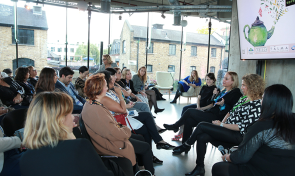 Women in tech meetup in London. Photo: Orel Cohen