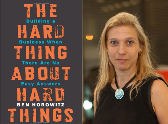Left: The Hard Thing About Hard Things. Right: Ornit Shinar. Photo: PR