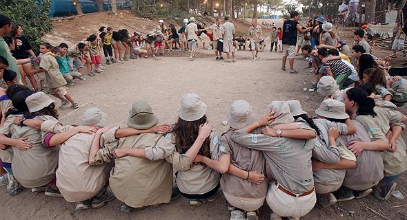 חניכי תנועת הצופים, צילום: אלעד גרשגורן